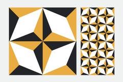 Vintage tile. Wall craft design patterns Royalty Free Stock Images