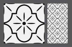 Vintage tile. Wall craft design patterns Stock Images