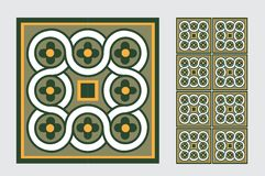 Vintage tile. Wall craft design patterns Royalty Free Stock Photography