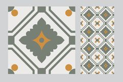 Vintage tile. Wall craft design patterns Stock Photography