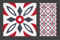 Vintage tile. Wall craft design patterns vector illustration