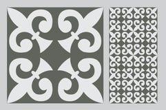 Vintage tile. Wall craft design patterns Royalty Free Stock Photos