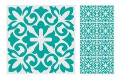 Vintage tile. Wall craft design patterns royalty free illustration