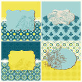 Vintage Tiles and Birds Royalty Free Stock Image