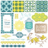 Vintage Tiles and Birds Stock Image