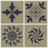 Vintage Tiles Ceramic Illustration Royalty Free Stock Photo