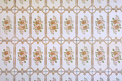 Vintage tiles with floral pattern Royalty Free Stock Photography