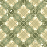 Vintage tiles with grunge texture seamless background, vector il Stock Photography