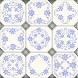 Digital tiles design. Ceramic wall and floor. Vintage tiles intricate details for a decorative look.Ceramic paint floor, ornament Collection Patchwork vector illustration