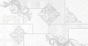 Digital tiles design. Ceramic wall and floor. Vintage tiles intricate details for a decorative look.Ceramic paint floor, ornament Collection Patchwork royalty free illustration