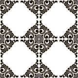 Vector abstract seamless patchwork pattern with geometric and floral ornaments. Vintage tiles intricate details for a decorative look. Ceramic paint floor stock illustration