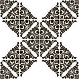 Vector abstract seamless patchwork pattern with geometric and floral ornaments,. Vintage tiles intricate details for a decorative look. Ceramic paint floor royalty free illustration