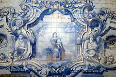 Vintage tiles from Lisbon, Portugal. stock photos