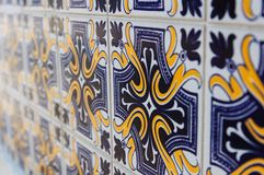 Vintage tiles from Lispon. Detail of the tiles from old building in Lisbon, Portugal Stock Image