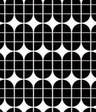 Vintage tiles seamless background, monochrome vector pattern. Royalty Free Stock Photos