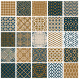 Vintage tiles seamless patterns. Stock Image