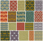 Vintage tiles seamless patterns. Royalty Free Stock Images