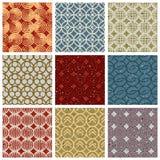 Vintage tiles seamless patterns set. Royalty Free Stock Photos