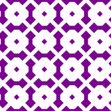 Vintage tiling seamless pattern with simple geometric shapes. Retro background made of rounded rhombuses. Endless vector texture for wallpaper, wrapping paper Stock Images