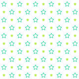 Vintage tiling seamless pattern with stroked stars. Abstract retro ornament made of simple shapes Stock Photography