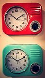 Vintage time. Old school vintage clock Stock Image
