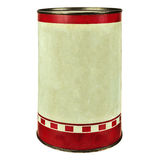 Vintage tin can isolated on white Royalty Free Stock Photo