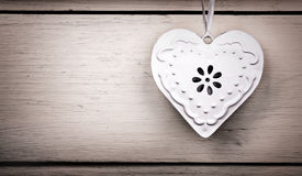 Vintage tin heart Royalty Free Stock Photo
