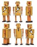 Vintage Tin Robot Toy Stock Photography