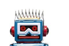 Vintage Tin Robot Toy Stock Photo