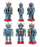 Vintage Tin Robot Toy Stock Image