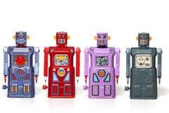 Vintage tin robot toys Royalty Free Stock Photo