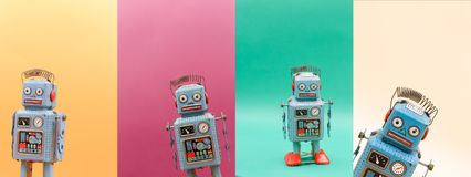 Vintage tin toy robot. royalty free stock photo