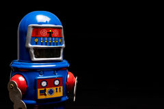 Vintage tin toy robot Stock Photos