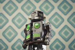 Vintage tin toy robot Stock Photo