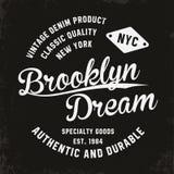 Vintage, tipografía de Brooklyn para la impresión de la camiseta Gráficos superiores de la camiseta del vintage ilustración del vector