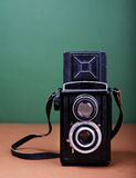 Vintage TLR camera royalty free stock photography