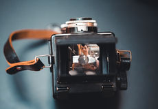 Vintage tlr camera Stock Photos