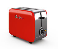 Vintage toaster isolated on white 3D illustration Stock Photography