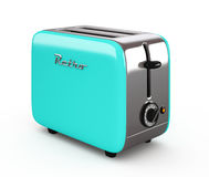 Vintage toaster isolated on white 3D illustration Stock Photos