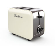 Vintage toaster isolated on white 3D illustration Stock Images