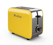 Vintage toaster isolated on white 3D illustration Royalty Free Stock Photo