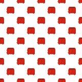 Vintage toaster pattern seamless vector stock illustration