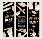 Vintage Tobacco Vertical Banners Royalty Free Stock Photos