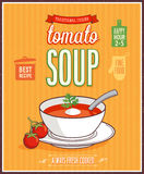 Vintage Tomato Soup Poster. Stock Photo