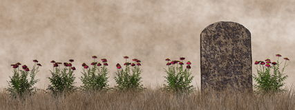 Vintage tombstone - 3D render Royalty Free Stock Image