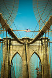 Vintage tone brooklyn bridge Royalty Free Stock Photography