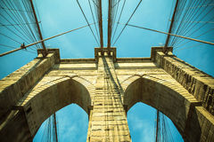 Vintage tone brooklyn bridge Royalty Free Stock Image
