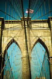 Vintage tone brooklyn bridge Royalty Free Stock Photo