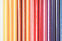 Vintage tone of Colour pencils isolated on white background. Close up Stock Photos