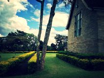 Vintage tone of Lord Egerton Castle, Nakuru, Kenya. Lord Egerton Castle is a historical building located in Nakuru, Rift Valley, Kenya stock photography